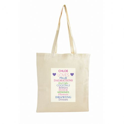 Personalised Top Ten Loves Cotton Bag